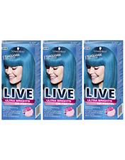 Schwarzkopf ULTRA BRILLANTI 096 Turchese Tentazione semi-permanente tintura per capelli x3