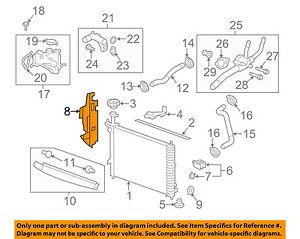 GMC GM OEM 07-12 Acadia 3.6L-V6 Radiator-Side Baffle Left 22772824