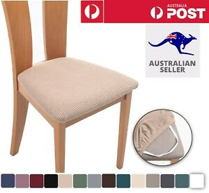 2-8PCS Dining Chair Covers Kitchen Home Seat Cover Stretch Removable Slipcover