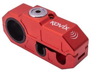 Kovix Khl Alarm-Bremshebelschloss Moto Vol Protection Système D'Alarme Rouge