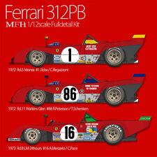Model Factory Hiro 1/12 Ferrari 312PB Ver.C: 1973 Rd.8 #15, #16, #17