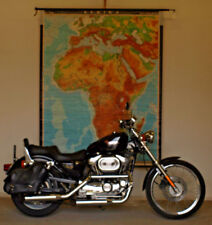 Schulwandkarte Afrika Africa physische physical 1965 158x200 vintage school map