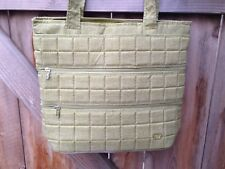 """LUG 0362-A CARRY ALL BABY DIAPER BAG TOTE GREEN  Plastic Base ~ 15"""" x 13"""""""