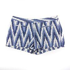 Gap Women's Blue White Ikat Print Canvas Shorts Size: 12
