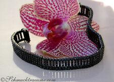 Ungewöhnlich: Breites Armband mit schwarzen Diamanten 9.80 ct. Weißgold 585 9200