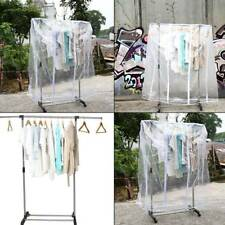 Transparent Clear Hanging Garment Rail Coat Hanger Cover -Clothes Rail Cover