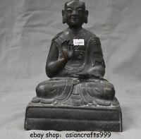 """9,6 """"Tibet Buddhismus Fane Bronze Je Tsongkhapa Buddha Meister Statue Skulptur"""