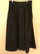Vintage Avon Fashions Modest Midi 1980s Denim Skirt Women's Size 13 / 14
