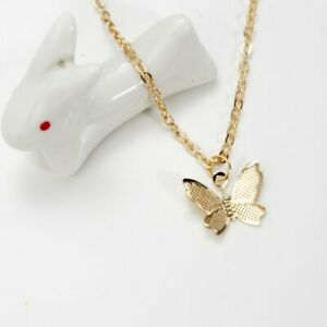 New Simple Butterfly Pendant Necklace Choker Clavicle Chain Women Jewelry Gifts