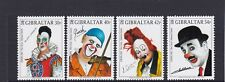 GIBRALTAR 2002 EUROPA  CIRCUS Famous CLOWNs   set of 4 - MNH ........REDUCED