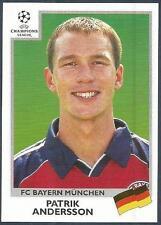 PANINI UEFA CHAMPIONS LEAGUE 1999-00- #225-BAYERN MUNICH-PATRIK ANDERSSON
