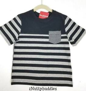 HANNA ANDERSON NWT BLACK/HEATHER GRAY STRIPE COMING & GOING TEE 110 5