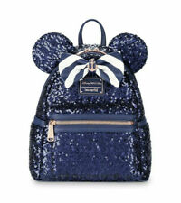 LOUNGEFLY DISNEY CRUISE LINE MINNIE MOUSE BLUE SEQUIN MINI BACKPACK *IN HAND*