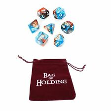 Bag of Holding w/ FREE Set of 7 Polyhedral Dice D&D Dungeons & Dragons (Red)