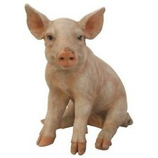 SITTING Pig Figurine (large version) - Life Like Figurine Statue Home / Garden