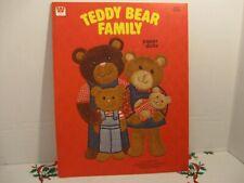 Vintage Teddy Bear Family Paper Doll Book 1980 Whitman Unused