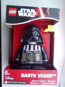 RED Box Disney LEGO Star Wars 'Darth Vader' Alarm Clock Unopened