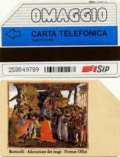 SCHEDA TELEFONICA - OMAGGIO BOTTICELLI - GOLDEN LIRA PR 15 - USATA