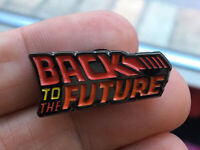 Back To The Future enamel pin BTTF Logo retro 80s 90s movies films comedy scifi