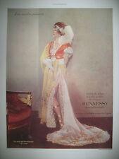 PUBLICITE DE PRESSE HENNESSY COGNAC LA MODE AU TEMPS DES MERVEILLEUSES AD 1935