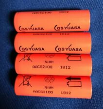 "4 x Japan""GS Yuasa""AACS2100 NiMh(UN)Cells#1 AA size Rechargeable Batteries*New"