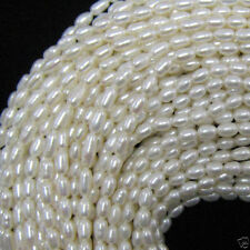 "7-8mm white freshwater pearl rice beads 15""strand"