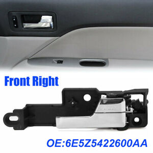 Front Right Inner Inside Door Handle Chrome For Ford Fusion MKZ Milan 2006-2012