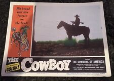 COWBOY LC #7 '54 cool silhouette of cowboy on horse