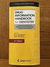 Drug Information Handbook for Dentistry (17th Edition)