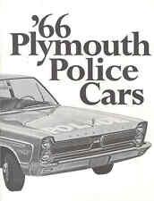 1966 Plymouth Police Sales Brochure pb63-RT3MAJ