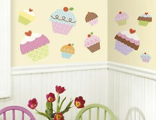 Happi Cupcakes Giant Wall Decals BIG Bakery Kitchen Stickers NEW Cake Decor