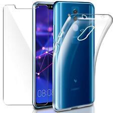 Pour Huawei MATE 20 LITE Coque gel en silicone - TRANSPARENT + 1 verre trempé