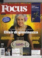 FOCUS=N°228 OTTOBRE 2011=ELISIR DI GIOVINEZZA=