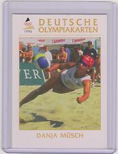 1996 DEUTSCHE OLYMPIAKARTEN ~ DANJA MUSCH OLYMPIC CARD #04 ~ BEACH VOLLEYBALL