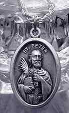 Look 2478 Sterling Silver Saint Peter Pendant Charm Jewelry