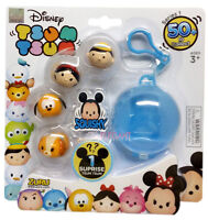 DISNEY TSUM TSUM SQUISHY 5  PACK SERIES 1 WITH SURPRISE & KEY CHAIN  BNIP