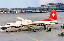 Globe Air Handley Page HPR.7 Herald 210 HB-AAL at London Gatwick LGW Postcard