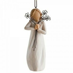 Willow Tree Friendship Ornament Flowers Hang or Stand Gift Christmas 27337