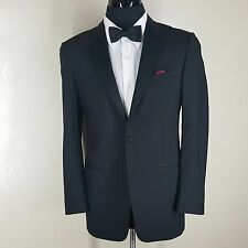 GIANNI VERSACE COUTURE BLACK 100% WOOL DINNER JACKET 2 BTN. CENTER VENT  38 REG
