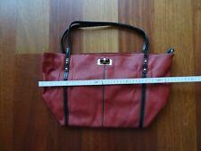 Neue Große Damen Handtasche David Jones Echtleder Rot Tasche