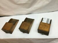 Primitive Wood Wall Bill Letter Box Set of 3 Index card Note Pad Wall Box