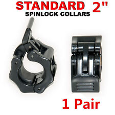 """Standard Dumbbell Barbell Bar Lock 2"""" Weight Clamp Spinlock Collars Gym Traing"""