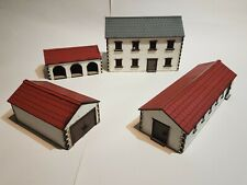 28MM FARM 4 BUILDINGS SCENERY MDF LASER CUT WW2 SUITABLE FOR BOLTACTION PAINTED