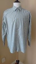 J.Crew Blue/Green Stripe Long Sleeve Button Up Size:Large Excellent Condition!!!