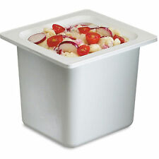 San Jamar Chill-It Food Pan, 1/6 Size, White, 50 oz, Keep Food Cold for 8 Hours
