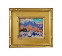 James Slay Listed California San Gabriel Sycamore Trees Landscape Oil Painting
