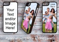 Personalised Custom printed phone case -iPhone 5/5S Add Your Photo /Text/Logo/
