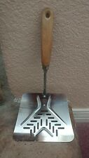 Vintage EKCO Metal Curved Flipper Lifter Spatula Large Slotted
