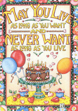 Live As Long As You Want-Handcrafted Birthday Magnet-w/Mary Engelbreit art