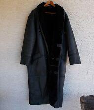 Rare Walter Davoucci black shearling heavyweight Mens long coat size Large READ